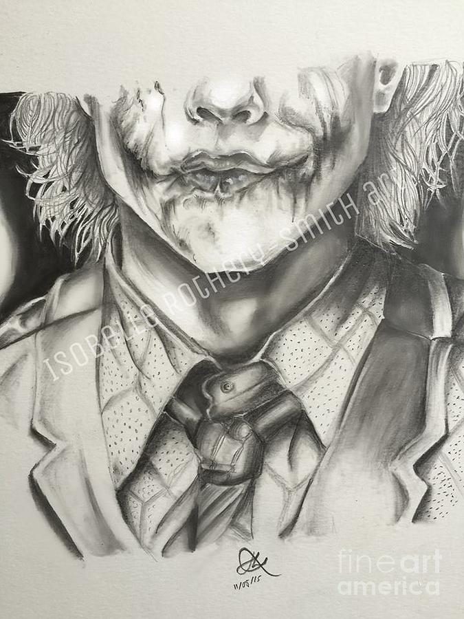 Heath ledger drawing heath ledger joker pencil sketch by isobelle rothery smith