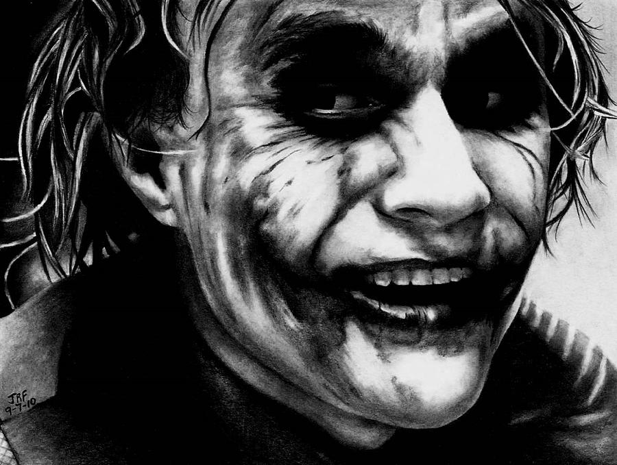Heath Ledger Drawing - Heath Ledger Joker by Rick Fortson