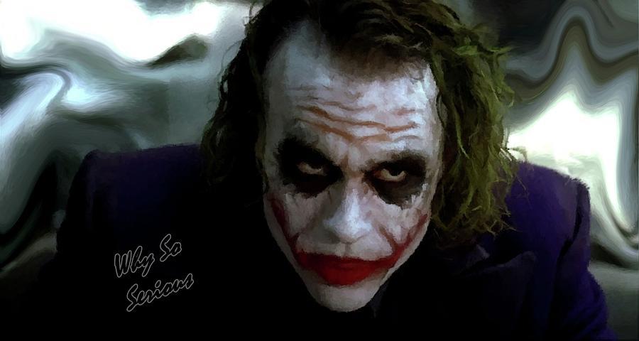 Heath Ledger Joker Why So Serious Photograph by David Dehner