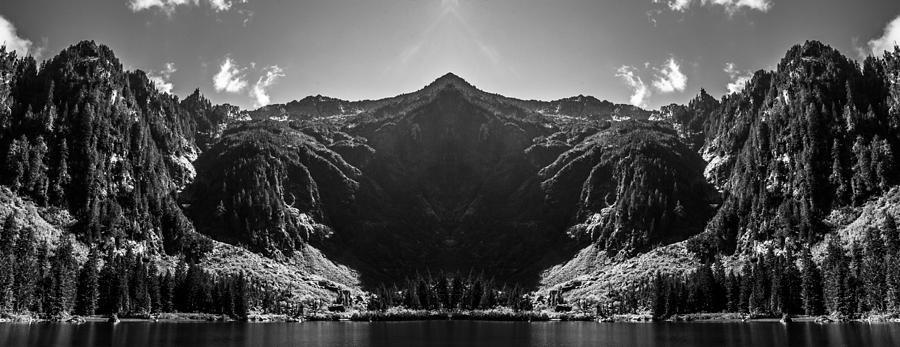 Heather Lake Reflection Digital Art