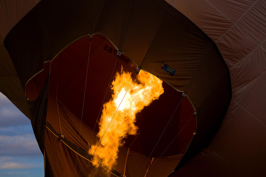Hot Air Balloon Photograph - Heating Up by Gary Smith