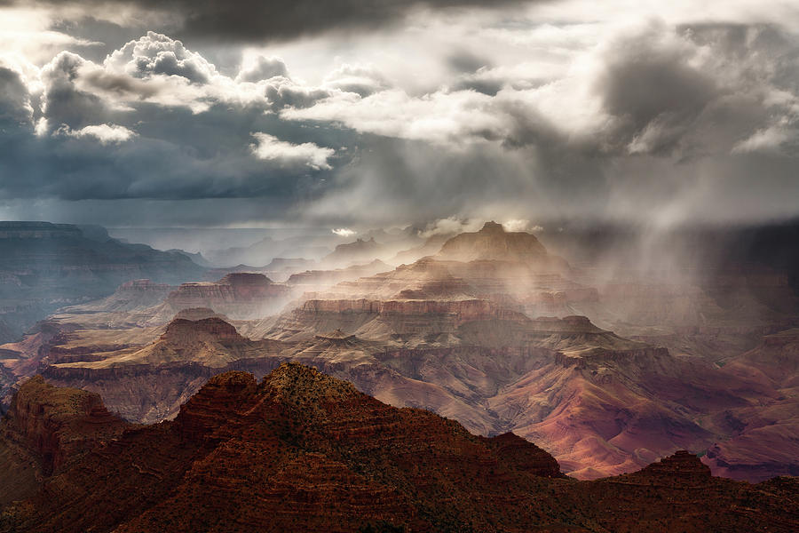 Grand Canyon Photograph - Heaven And Earth by Adam Schallau