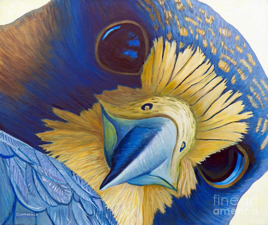 Peregrine Falcon Painting - Heaven And Earth by Brian  Commerford