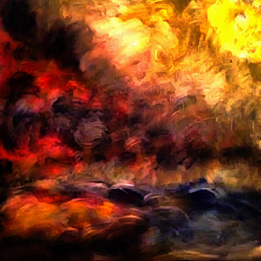 heaven and hell painting by galeria trompiz