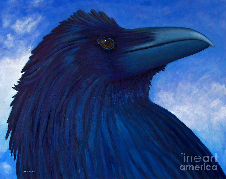 Raven Painting - Heaven Bound by Brian  Commerford