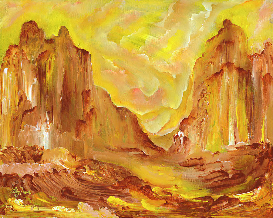 Sedona Painting - Heaven Earth Sedona by Lily Nava