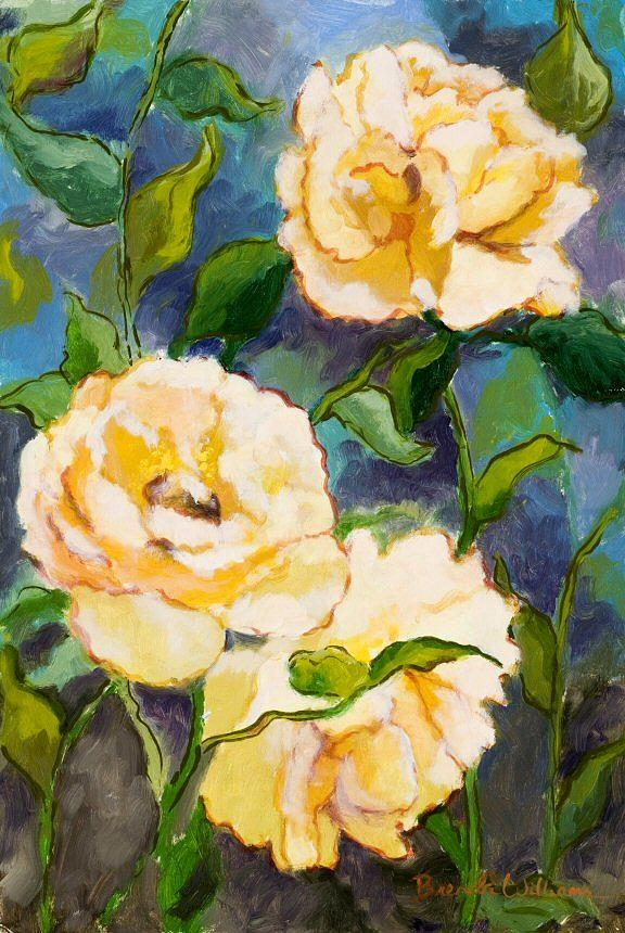 Roses Painting - Heaven on Earth Roses by Brenda Williams