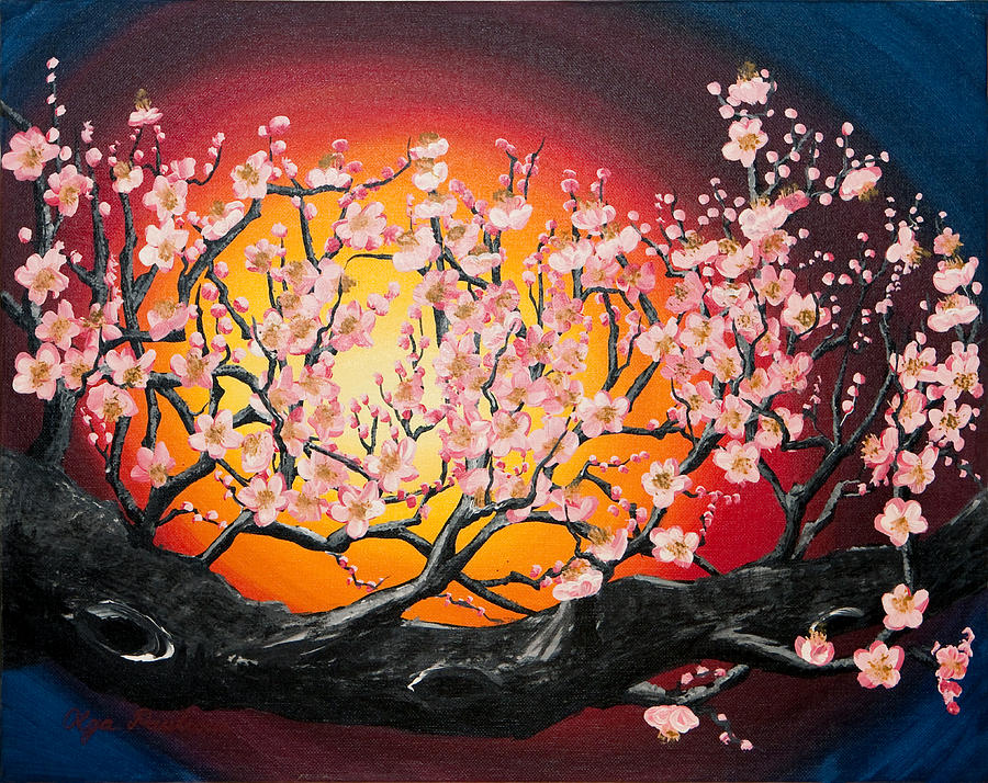 Cherry Blossoms Painting - Heavenly Blossoms by Olga Smith