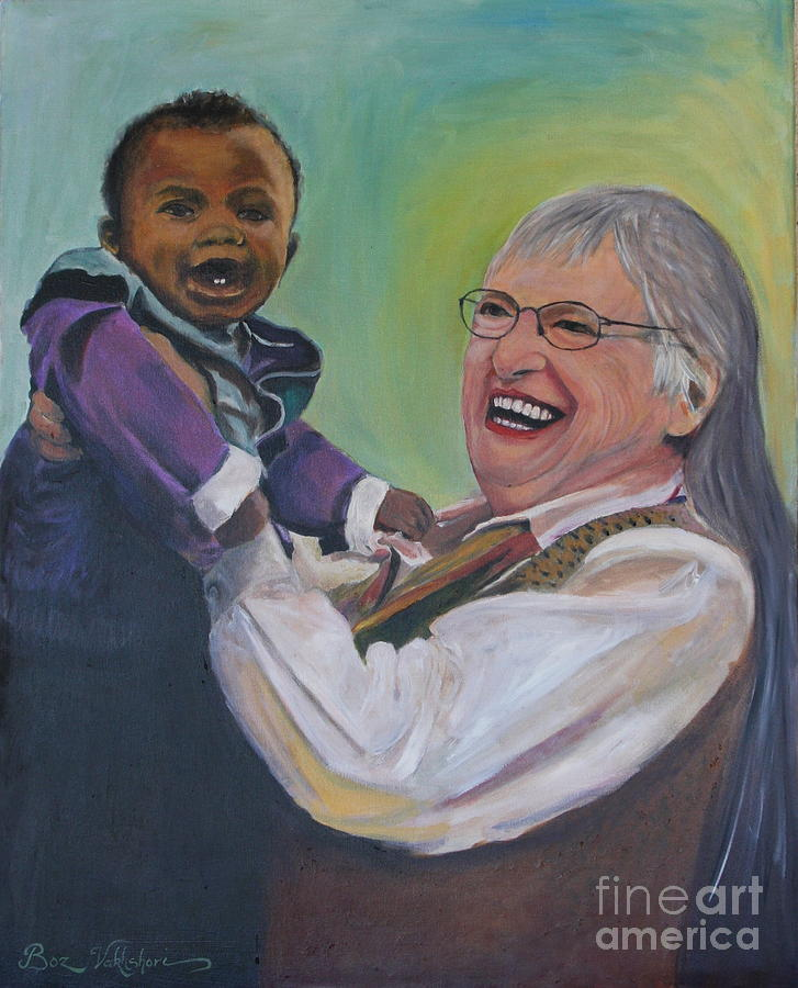 Heavenly Grandma Painting by Boz  Vakhshori