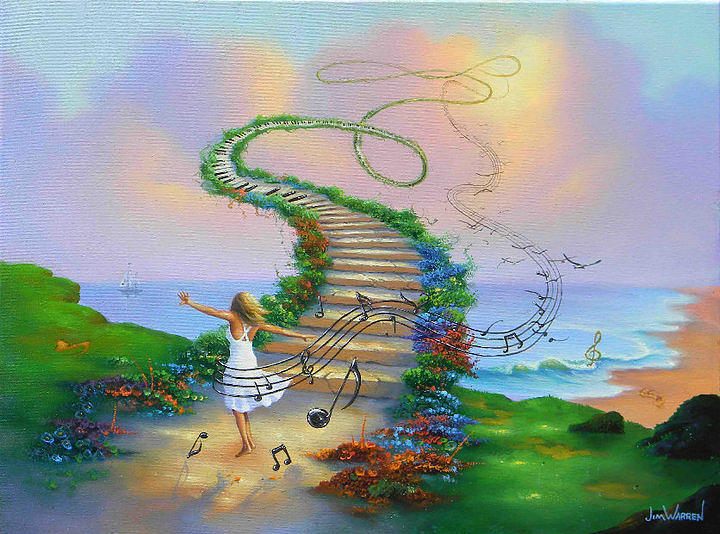 Fantasy Painting - Heavenly Harmony by Jim Warren