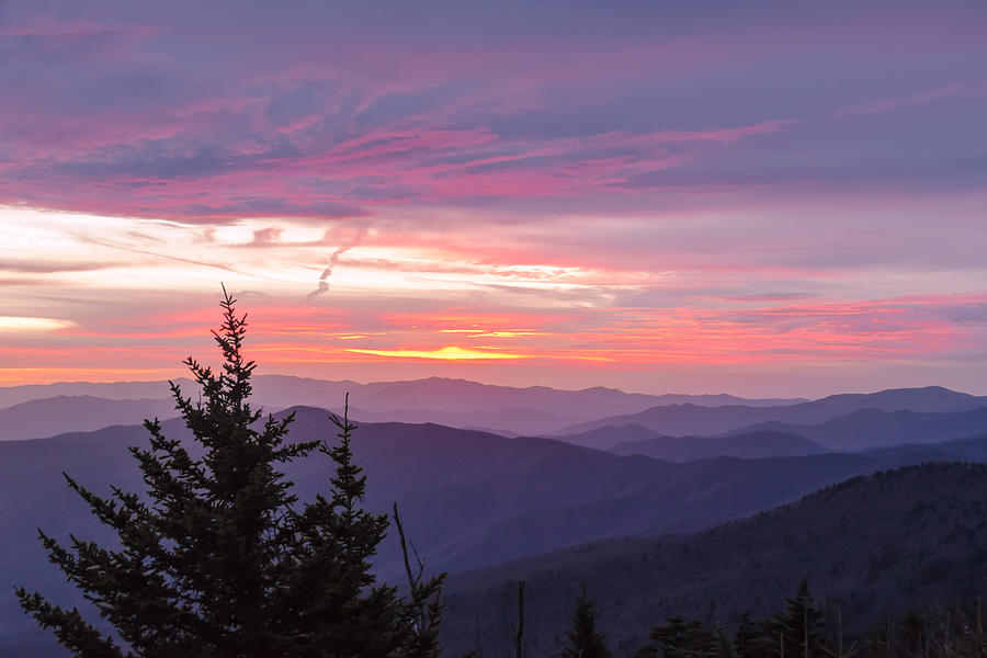 Great Smoky Mountains Photograph - Heavenly Hues by Kristina Plaas