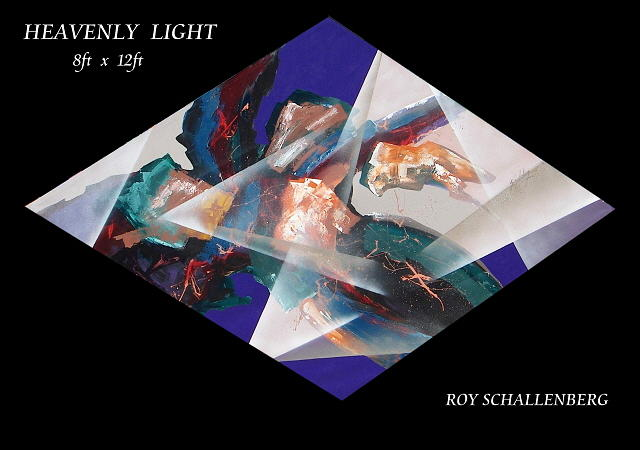 Painting Painting - Heavenly Light by Roy Schallenberg