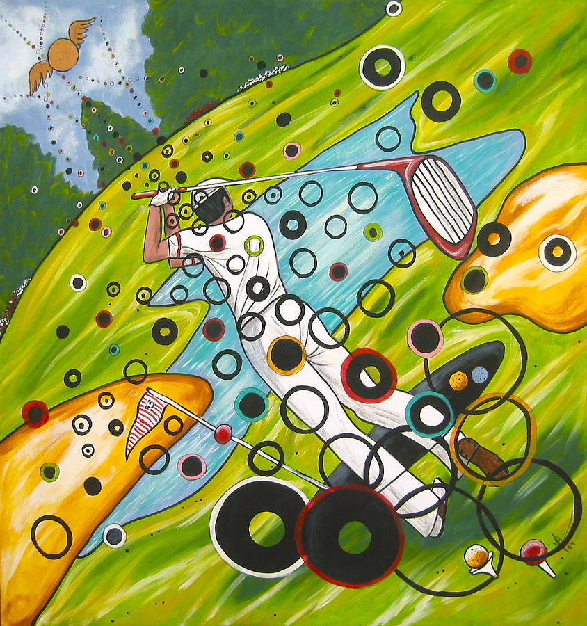 Golf Painting - Heavenly Swing by V Boge