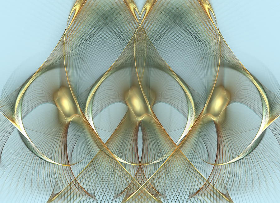 Wings Digital Art - Heavenly Wings Of Gold by Georgiana Romanovna