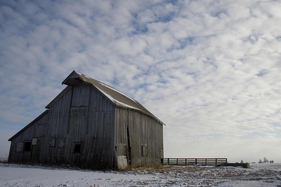 Gray Barn Photograph - Heavens Barn Dusting by Dylan Punke
