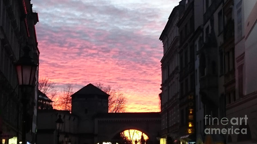 Sky Photograph - Heavens fire and the gate by Heidi Sieber