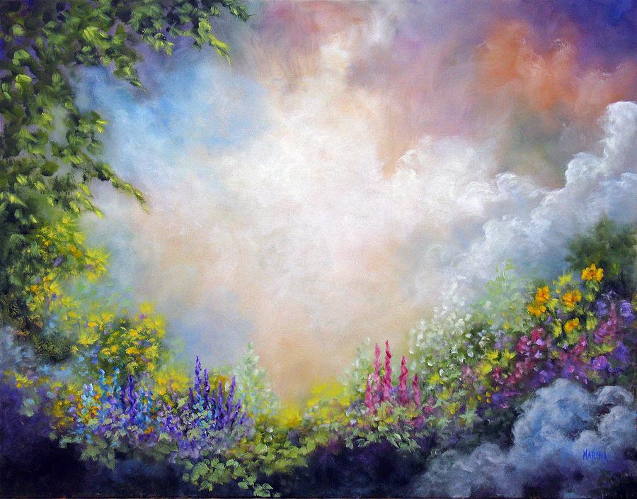 Garden Painting - Heavens Garden by Marina Petro