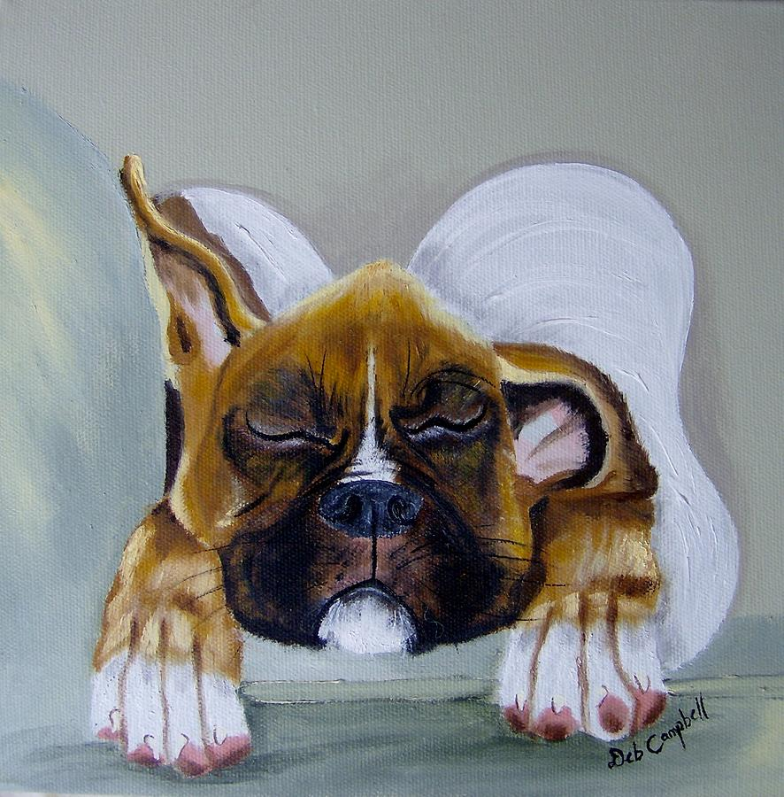 Dog Painting - Heavens Little Angel Two by Debra Campbell