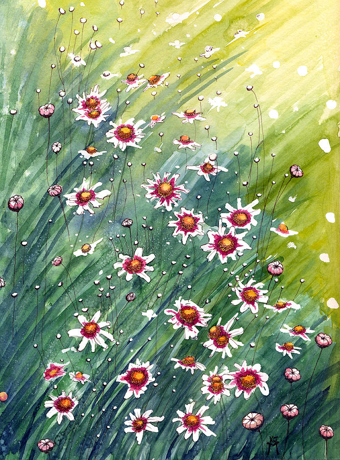 Perennial Flowers Painting - Coreopsis by Katherine Miller