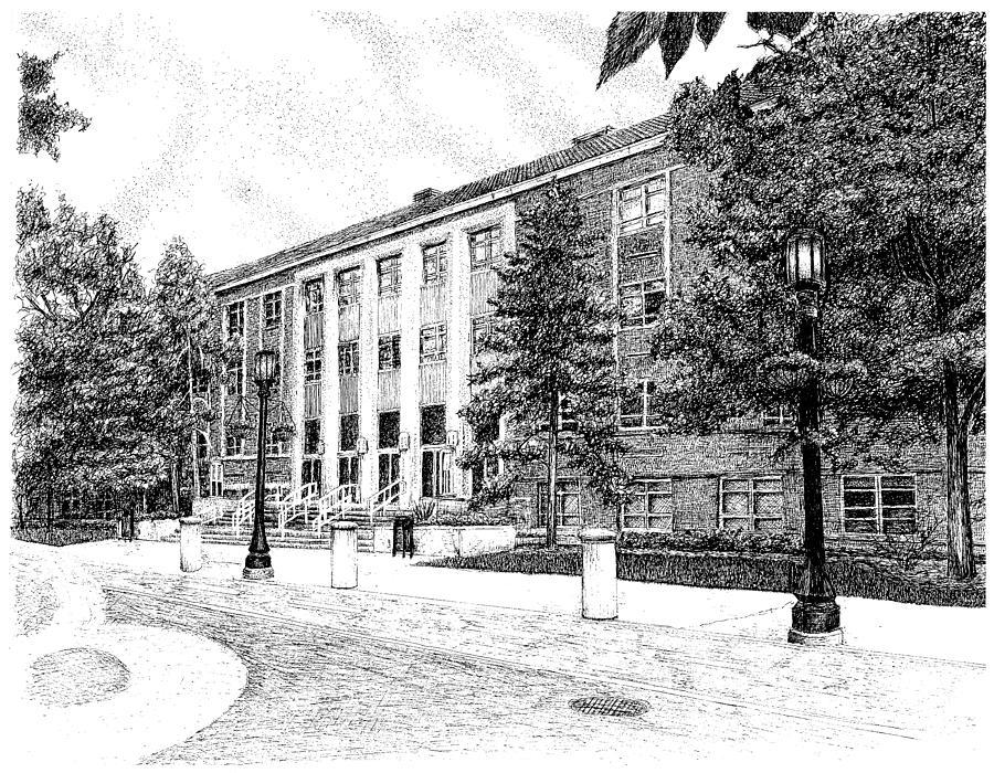 purdue university drawing heavilon hall purdue university west lafayette indiana by stephanie