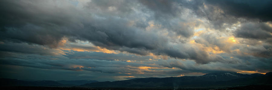 Clouds Photograph - Heavy Clouds Over Mountains by George Tsartsianidis
