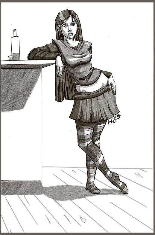 Heavy Drinker Drawing by Jennifer Evans