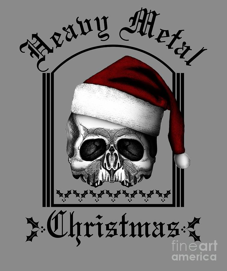 skull digital art heavy metal christmas by willy williams - Heavy Metal Christmas