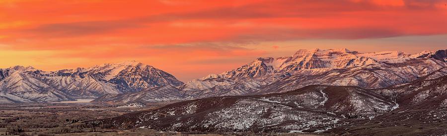 Heber Valley Sunrise Panorama. Photograph