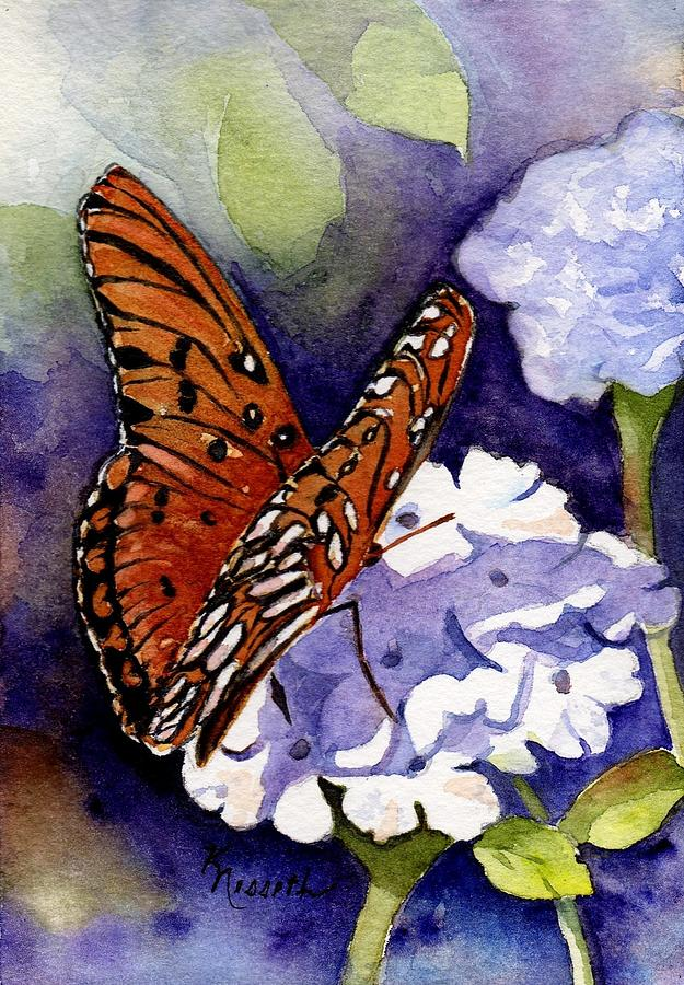 Watercolor Painting - Hebrews 4 12 by Kathy Nesseth