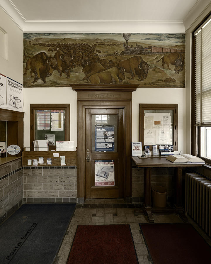Hebron Nebraska Post Office Mural by Art Whitton