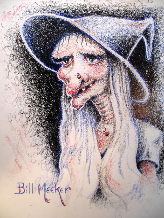 Witch Painting - Hecate by Bill Meeker