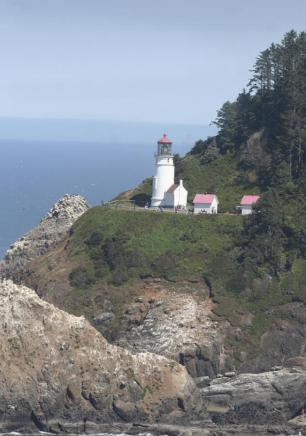 Lighthouse Photograph - Heceta Head Lighthouse Li 9000 by Mary Gaines