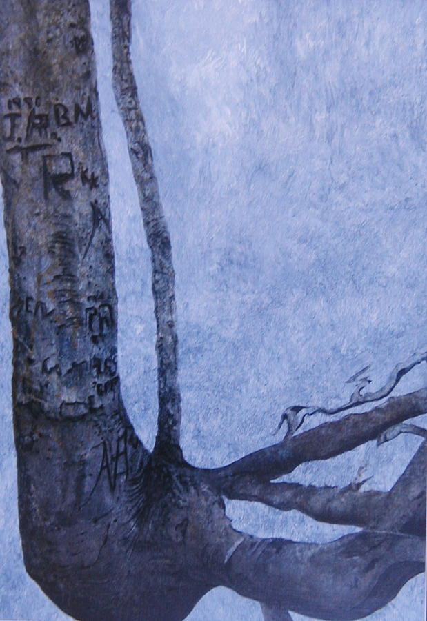 Tree Trunk Painting - Hedden Park II by Leah  Tomaino