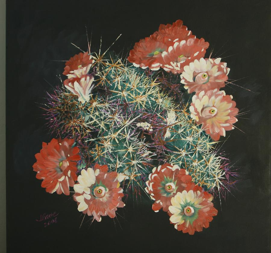 Cactus Painting - Hedgehog by Jerry Cave