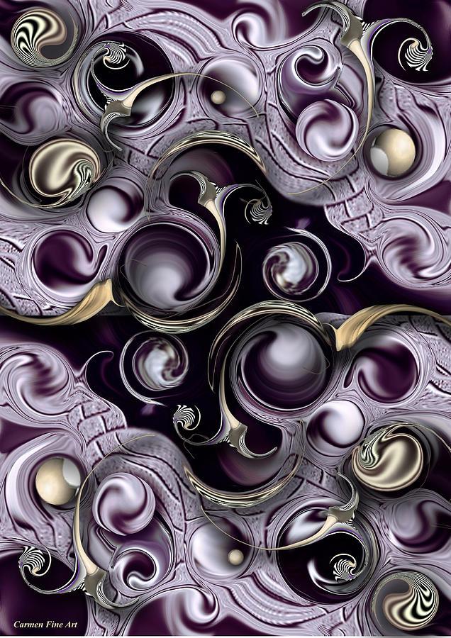 Violet Digital Art - Hedonic Energy by Carmen Fine Art