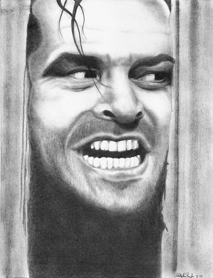 Jack Drawing - Heeeres Johnny by Christopher Brooks