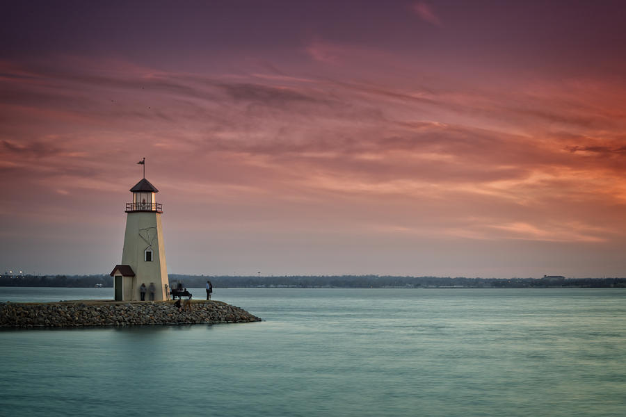Lighthouse Photograph - Hefner Sunset II by Ricky Barnard
