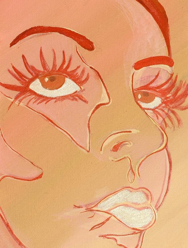 Kiss Painting - Heidi by Robin Antoinette Breeden