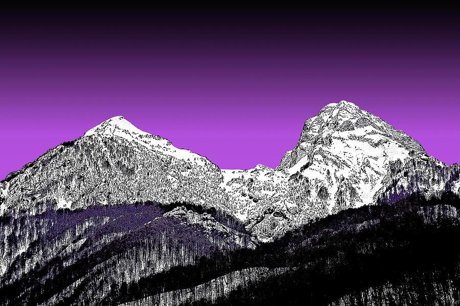 Highlands Digital Art - Height.  Krasnaya Polyana. Sochi.  by Andy Za