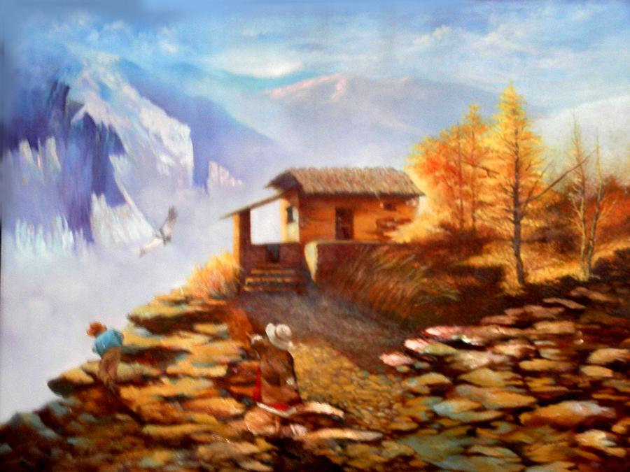 Landscape Painting - Height by Victor Cuya