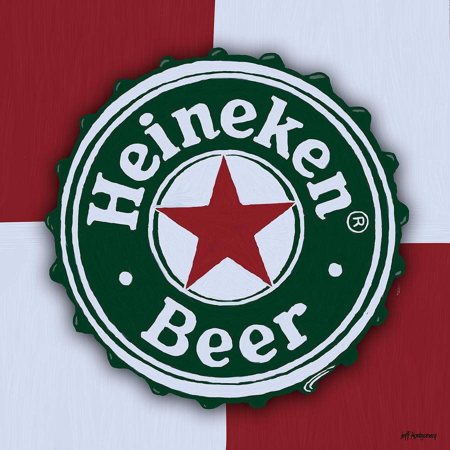 Heineken Bottle Cap Digital Art By Jeff Montgomery