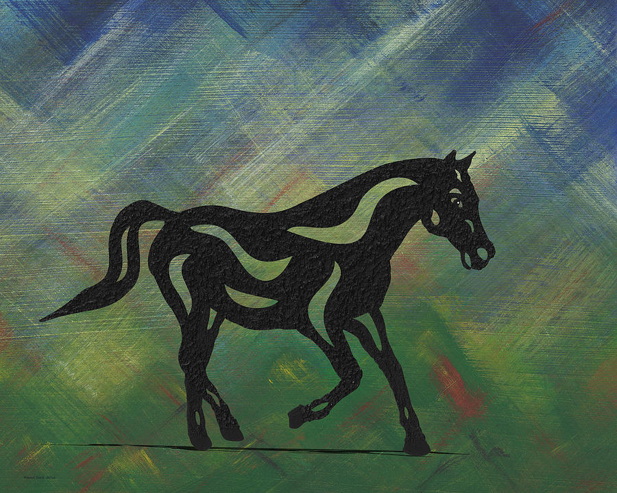 Heinrich - Abstract Horse by Manuel Sueess