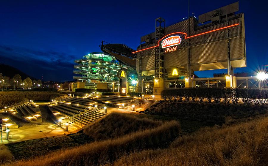 Heinz Field Photograph - Heinz Field At Night by Mark Dottle