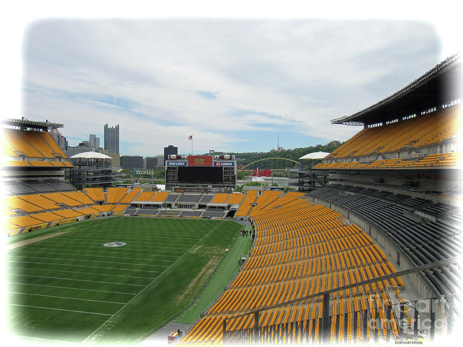 Heinz Stadium with Pittsburgh Skyline by Roberta Byram