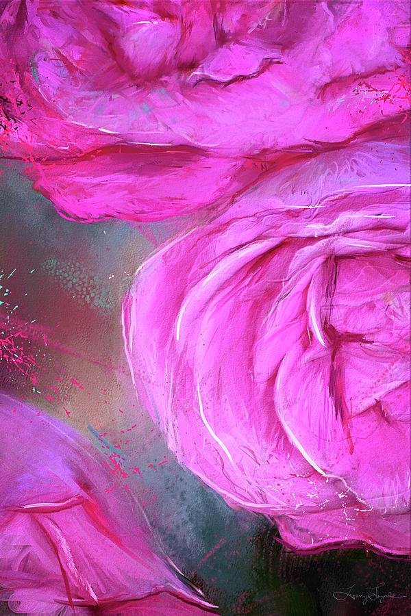 Heirloom - Heirloom Hybrid Tea Roses Art Painting