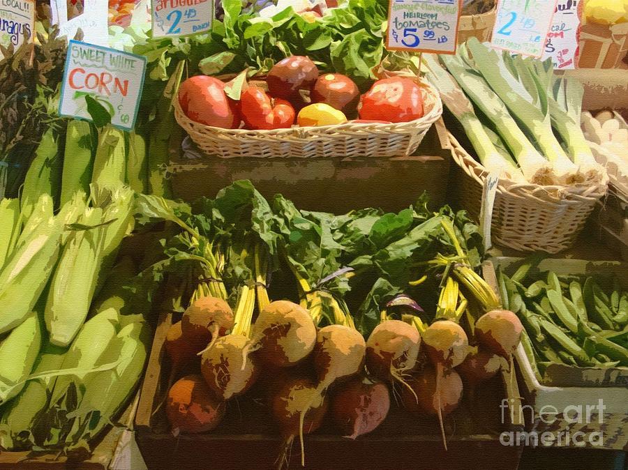 Fresh Photograph - Heirloom Tomatoes by Lydia L Kramer