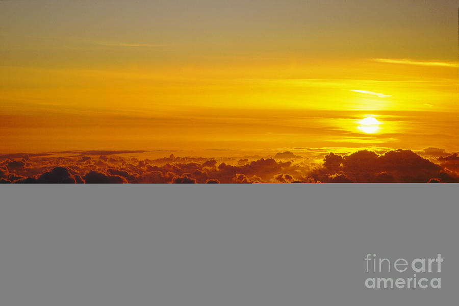 Hawaii Photograph - Heleakala Sunrise by Stan and Anne Foster