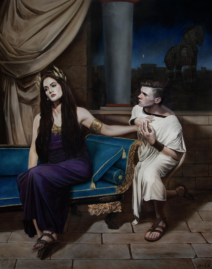 Greek Painting Painting - Helen And Paris by Eric  Armusik