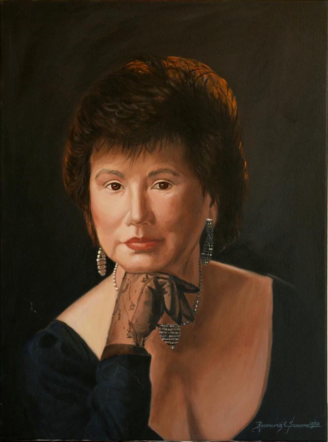 Oil Portrait Painting - Helen by Rosencruz  Sumera