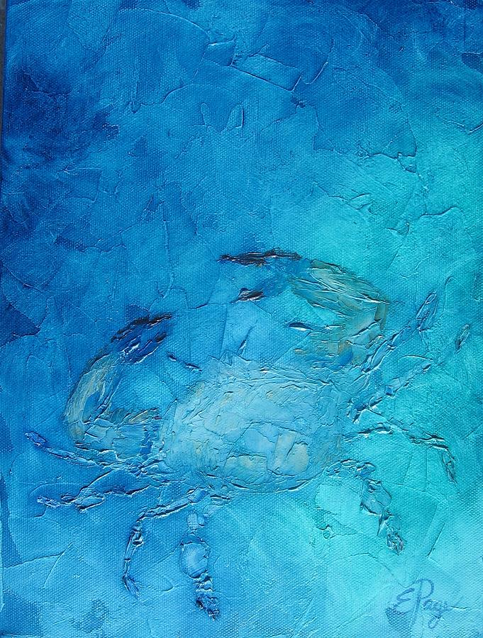 Crab Painting - Helenes Crab by Emily Page